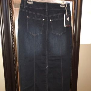Style & Co Skirts - Style & Co. long denim skirt NWT size 4